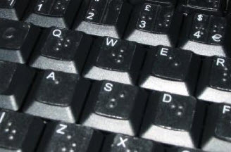 A typical Braille keyboard